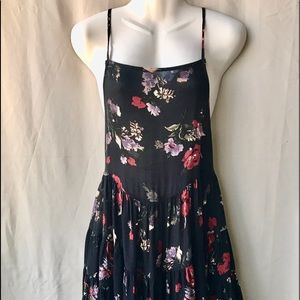 Free People Intimately Floral w Black Dress, XS